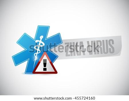Zika Virus warning sign concept illustration design graphic - stock photo