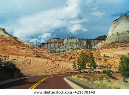 Zion National Park | Canyon | USA - stock photo