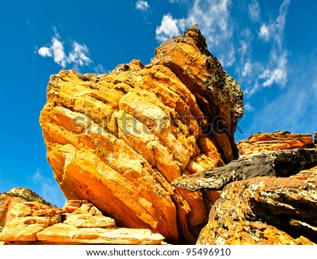 Zion National Park, East Side - stock photo