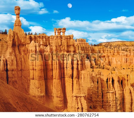 Zion National Park Panorama Utah, USA - stock photo
