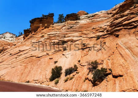 Zion National Park, Utah, USA - stock photo