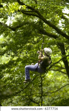 zip line - stock photo