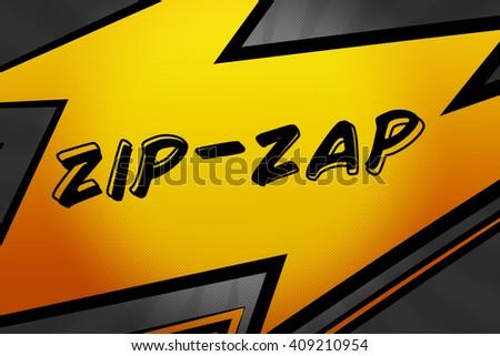 Zip Zap Comic Speech Bubble - stock photo