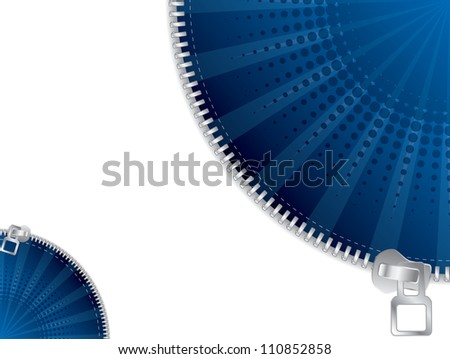 Zippered effects background template design - stock photo