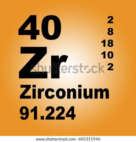 Zirconium periodic table elements stock illustration 605311946 zirconium periodic table of elements urtaz Images