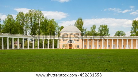 Znamenskoye Rayok - old family estate in the Tver region was built in the second half of the XVIII century, the architect of Lviv. Russia, Tver region. May 11, 2016