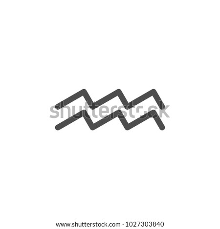 Zodiac Aquarius Saturn Icon Elements Web Stock Illustration