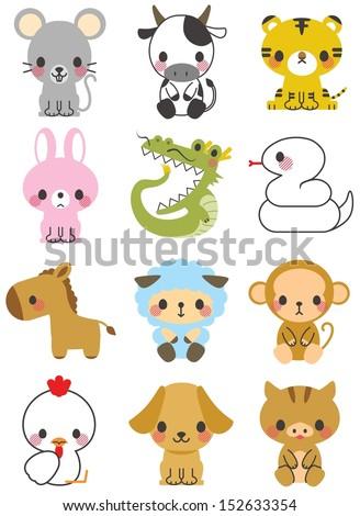 Zodiac Chinese zodiac - stock photo