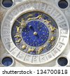 Zodiac clock at San Marco square in Venice - stock photo