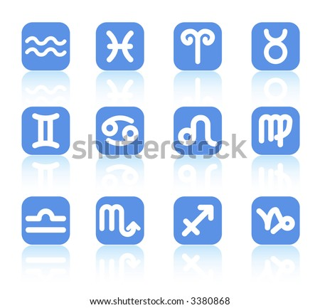 Zodiac raster iconset. Vector version is available in my portfolio