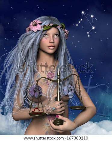 Zodiac series - Libra - stock photo