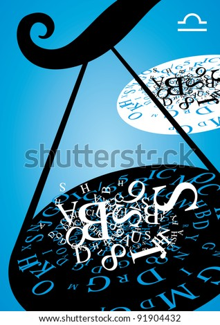 zodiac sign - libra - stock photo
