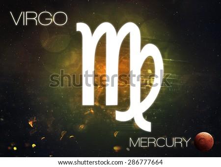 Zodiac sign - Virgo - stock photo
