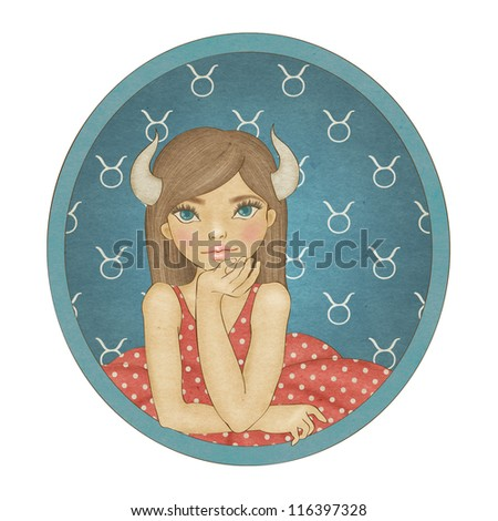 Zodiac signs collection. Taurus - stock photo