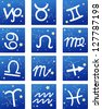 zodiacal icon set.jpg (EPS vector version id 126787568,format also available in my portfolio)  - stock photo