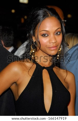 Zoe Saldana at MISSION IMPOSSIBLE III Premiere, The Ziegfeld Theatre, New  York, NY