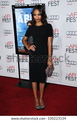 "Zoe Saldana at the ""Abel"" Screening at AFI Fest 2010, Chinese Theater, Hollywood, CA. 11-08-10"