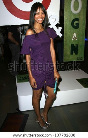 Zoe Saldana  at the Rogan For Target Debut at Barneys New York. Barneys New York, Beverly Hills, CA. 05-15-08