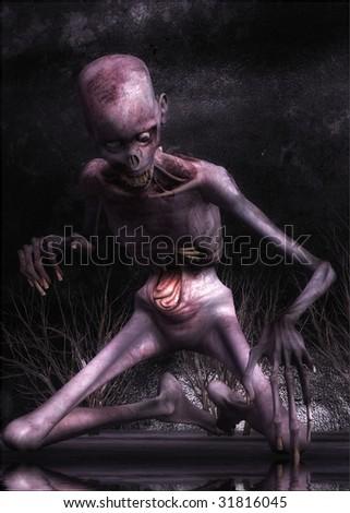 Zombie - stock photo