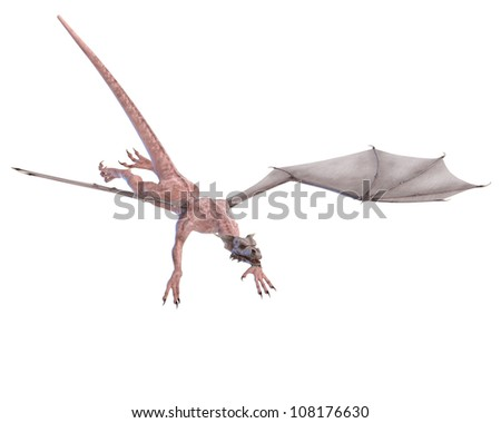 zombie dragon going down - stock photo