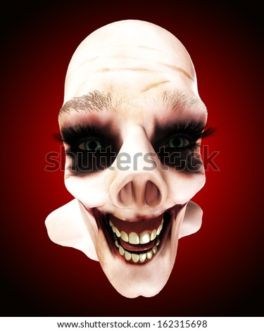 zombie face. - stock photo