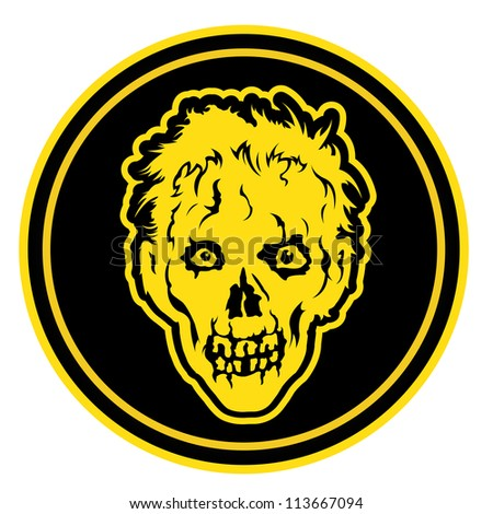 Zombie Face Badge / Seal - stock photo