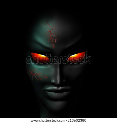 Zombie Ghost Halloween Face  - stock photo