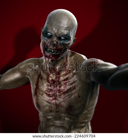 Zombie Selfie - stock photo