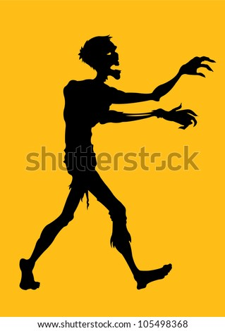 Zombie Silhouette - stock photo