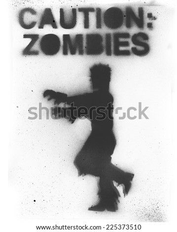 Zombie Stencil - stock photo