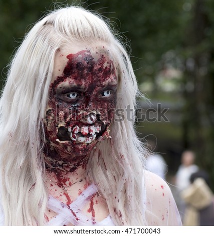 Zombie walk in Stockholm august 2016