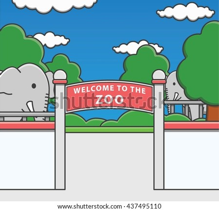 Zoo Doodle Illustration cartoon - stock photo