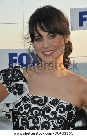 Zooey Deschanel at the Fox TV Summer 2011 All-Star Party at Gladstones Restaurant, Malibu. August 5, 2011  Malibu, CA Picture: Paul Smith / Featureflash - stock photo