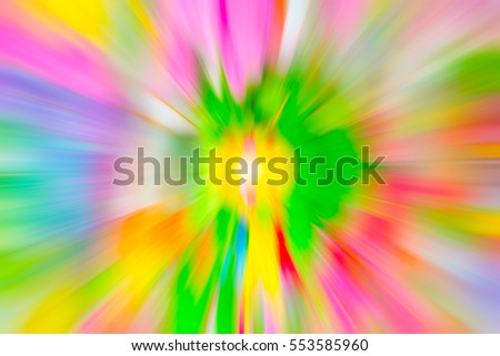 zoom blur colorful background, vivid colors motion blur for background design.