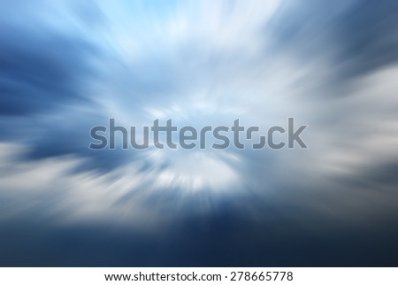 zoom blurred abstract of Clouds to heaven - stock photo