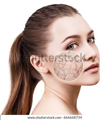 Fingerprint shows on facial skin something
