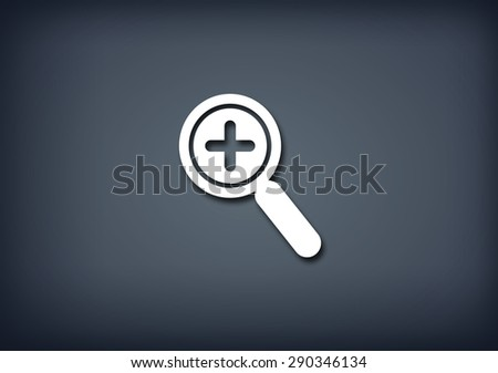 Zoom in icon - stock photo
