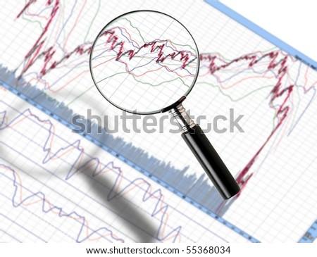 Zoom In statistic - stock photo