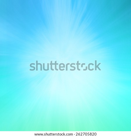 zoomed blue green background with starburst line design effect - stock photo