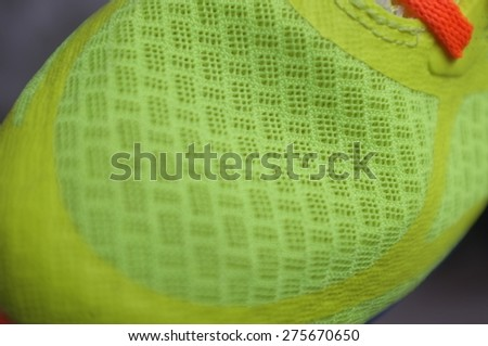 Zooming detail sneaker or trainer.  - stock photo