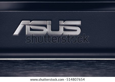 ZRENJANIN, SERBIA - November 12, 2016: Detail of Laptop with Asus logo. Asus is a Taiwanese multinational computer hardware and electronics company.