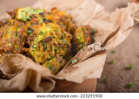 Zucchini Balls  - stock photo