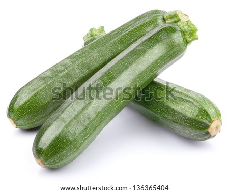 zucchini courgette Isolated on white - stock photo