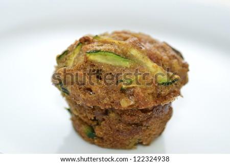 Zucchini Muffin - stock photo