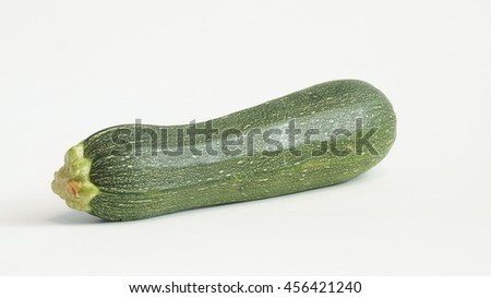 Zucchini on a white background