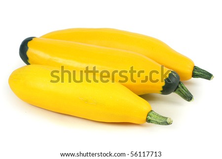 Zucchini on the white background