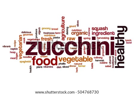 Zucchini word cloud concept