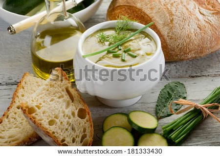zucchinis soup - stock photo