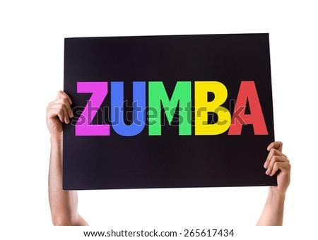 Zumba card isolated on white - stock photo