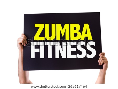 Zumba Fitness card isolated on white - stock photo